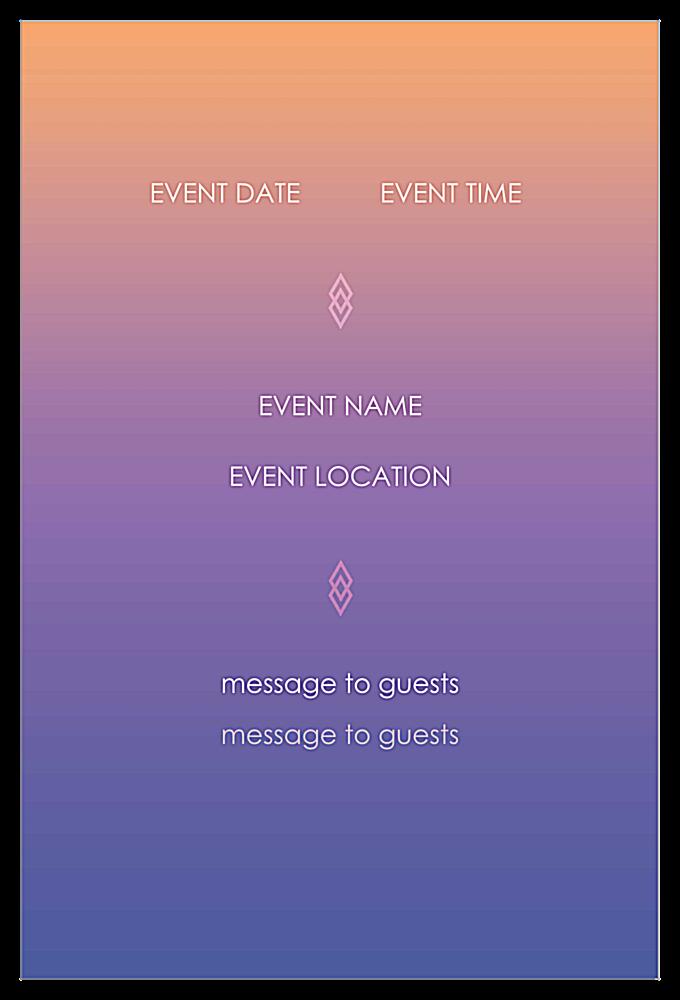 Easy-To-Use Color Blend Invitation Card Design Template back - Invitation Cards Maker