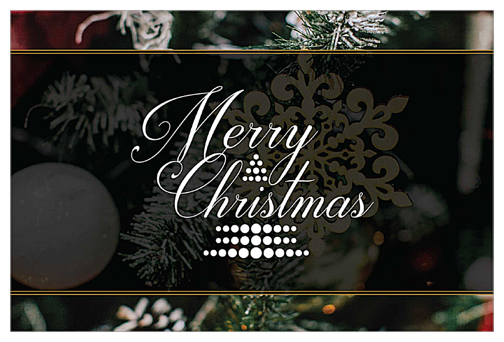 Merry Ornament front - Invitation Cards Maker