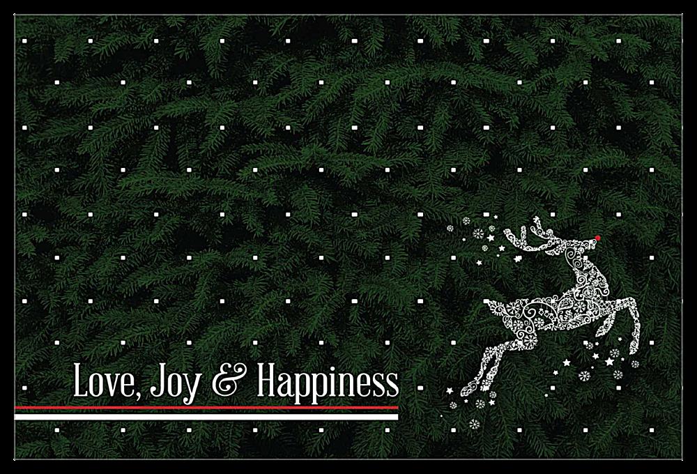 Swirl Reindeer front - Invitation Cards Maker
