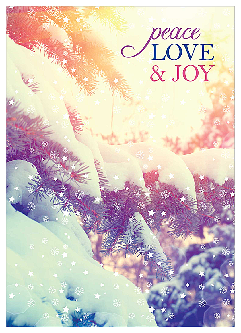 Snowy Peace front - Invitation Cards Maker