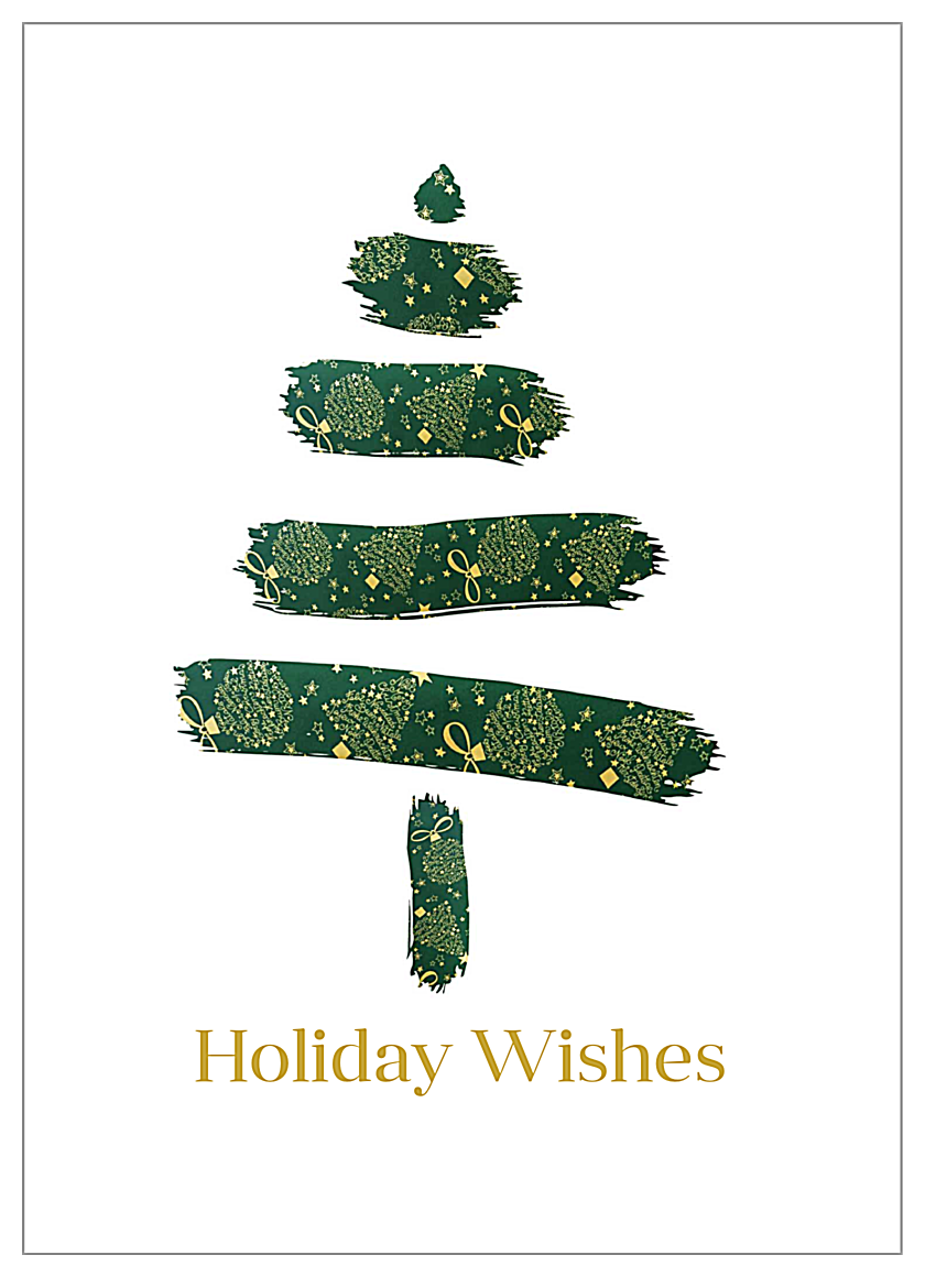 Brushed Tree front - Invitation Cards Maker