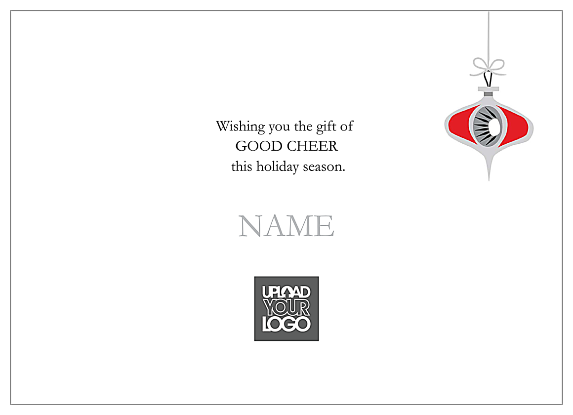 Cheery Ornaments back - Invitation Cards Maker