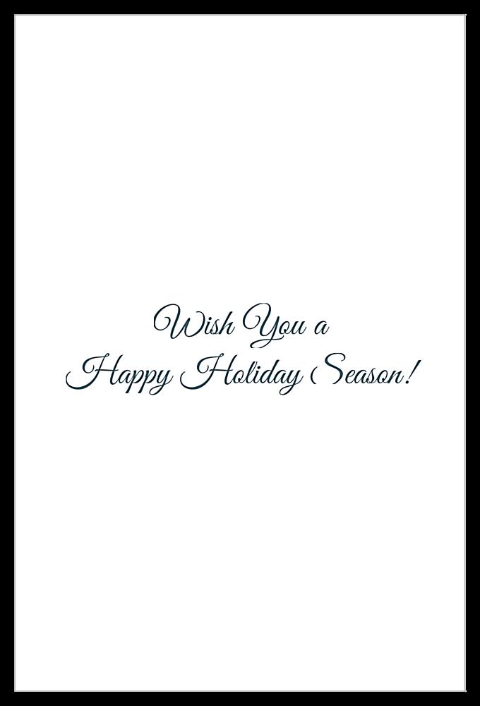 Snow Deer back - Invitation Cards Maker