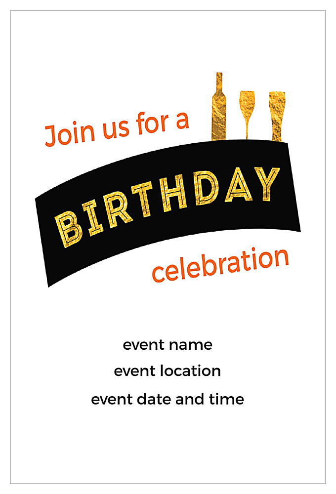 Cheers the Years back - Invitation Cards Maker