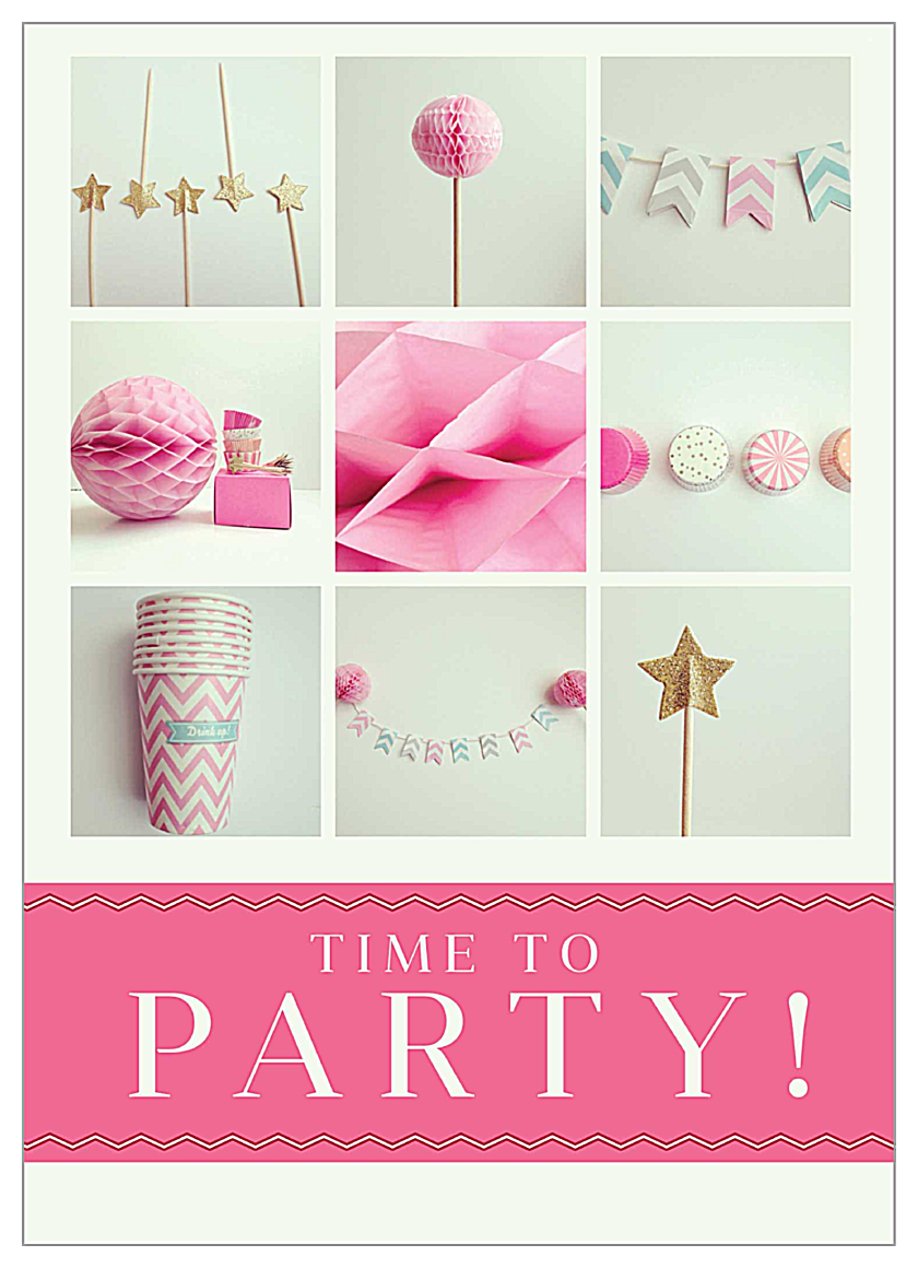 Party Props front - Invitation Cards Maker