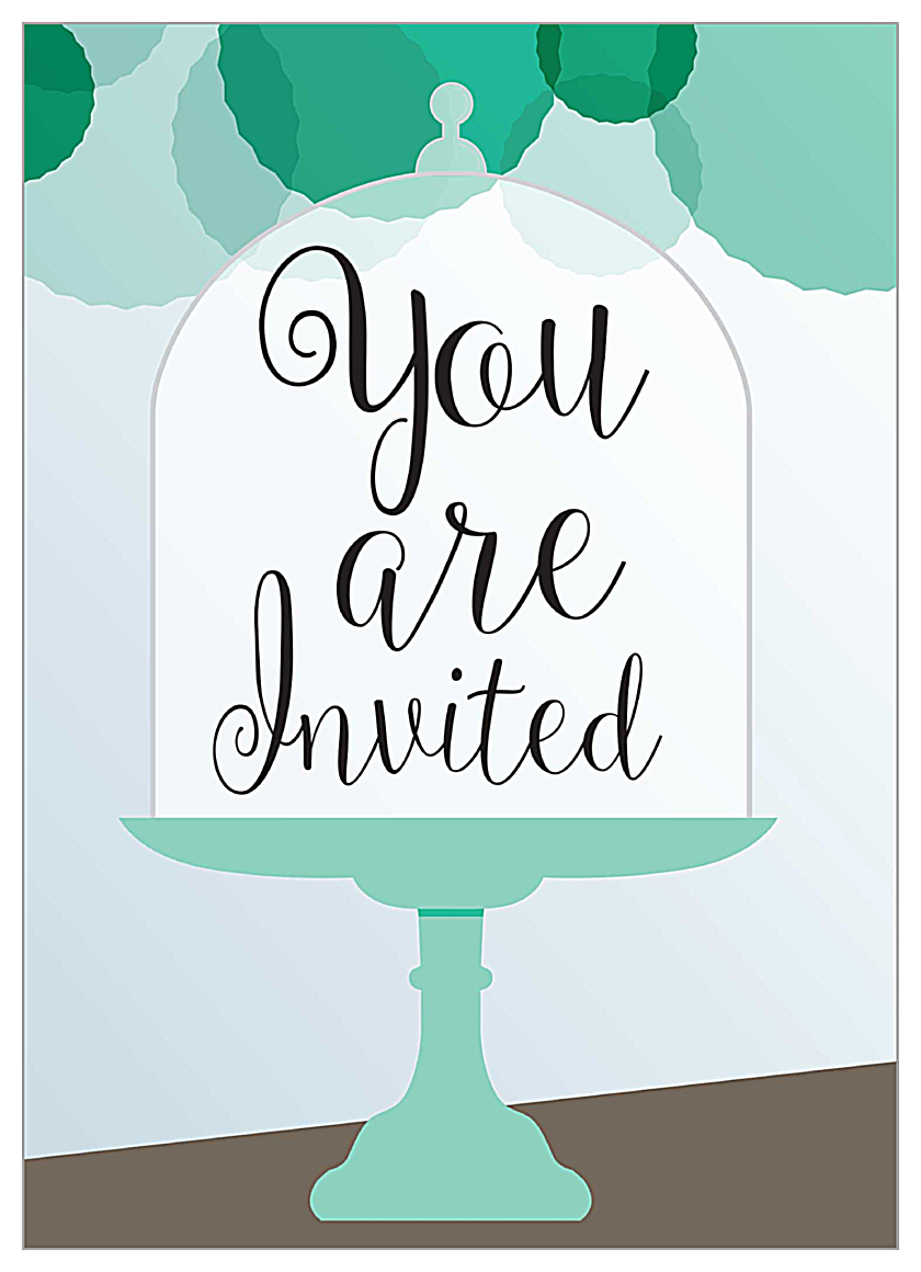 Cake Stands Alone front - Invitation Cards Maker