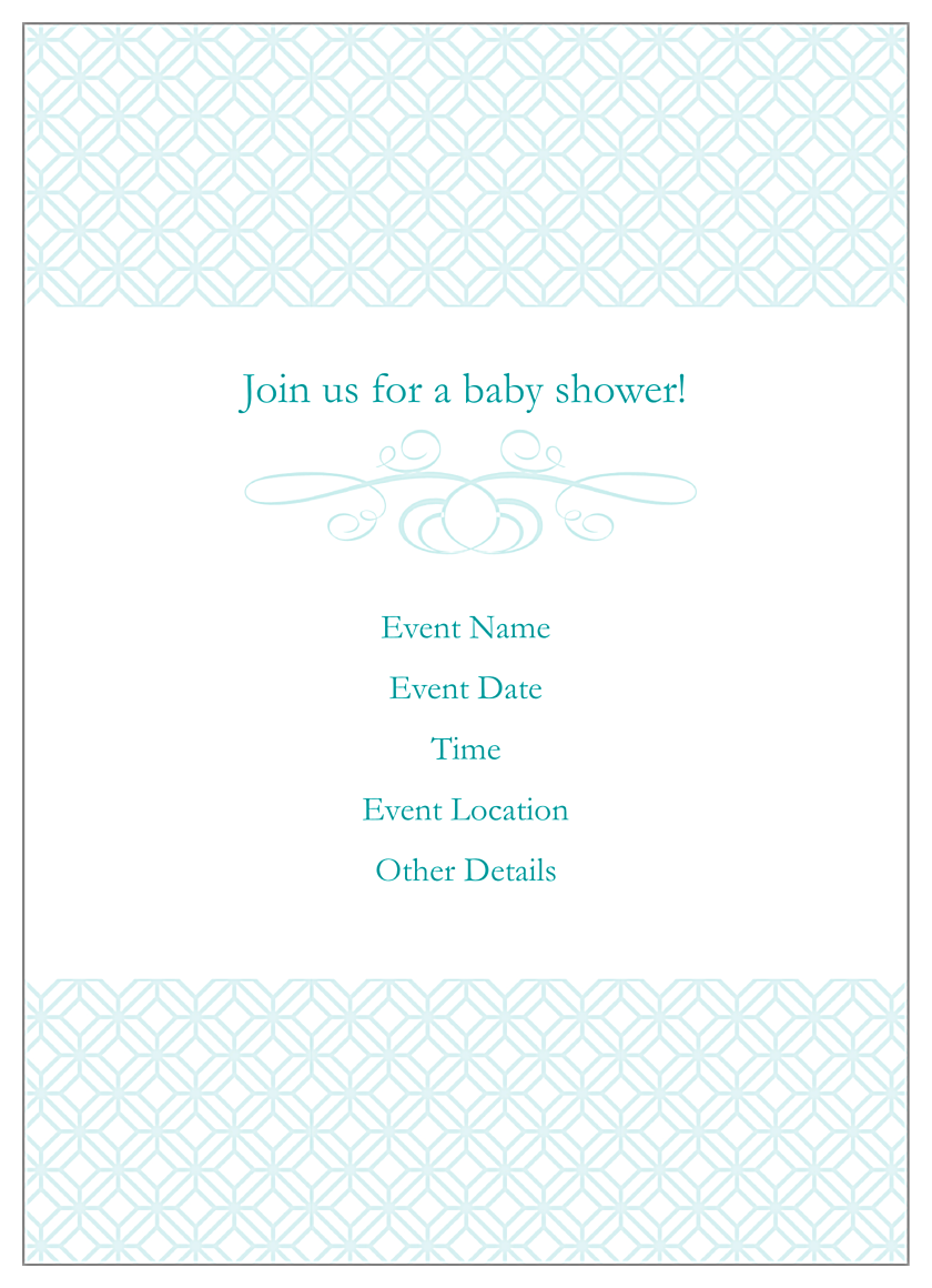 Baby Rattle back - Invitation Cards Maker