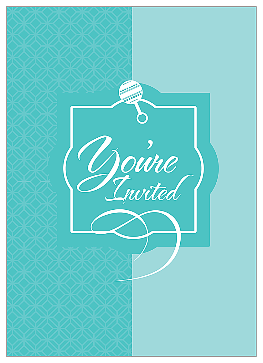 Baby Rattle front - Invitation Cards Maker