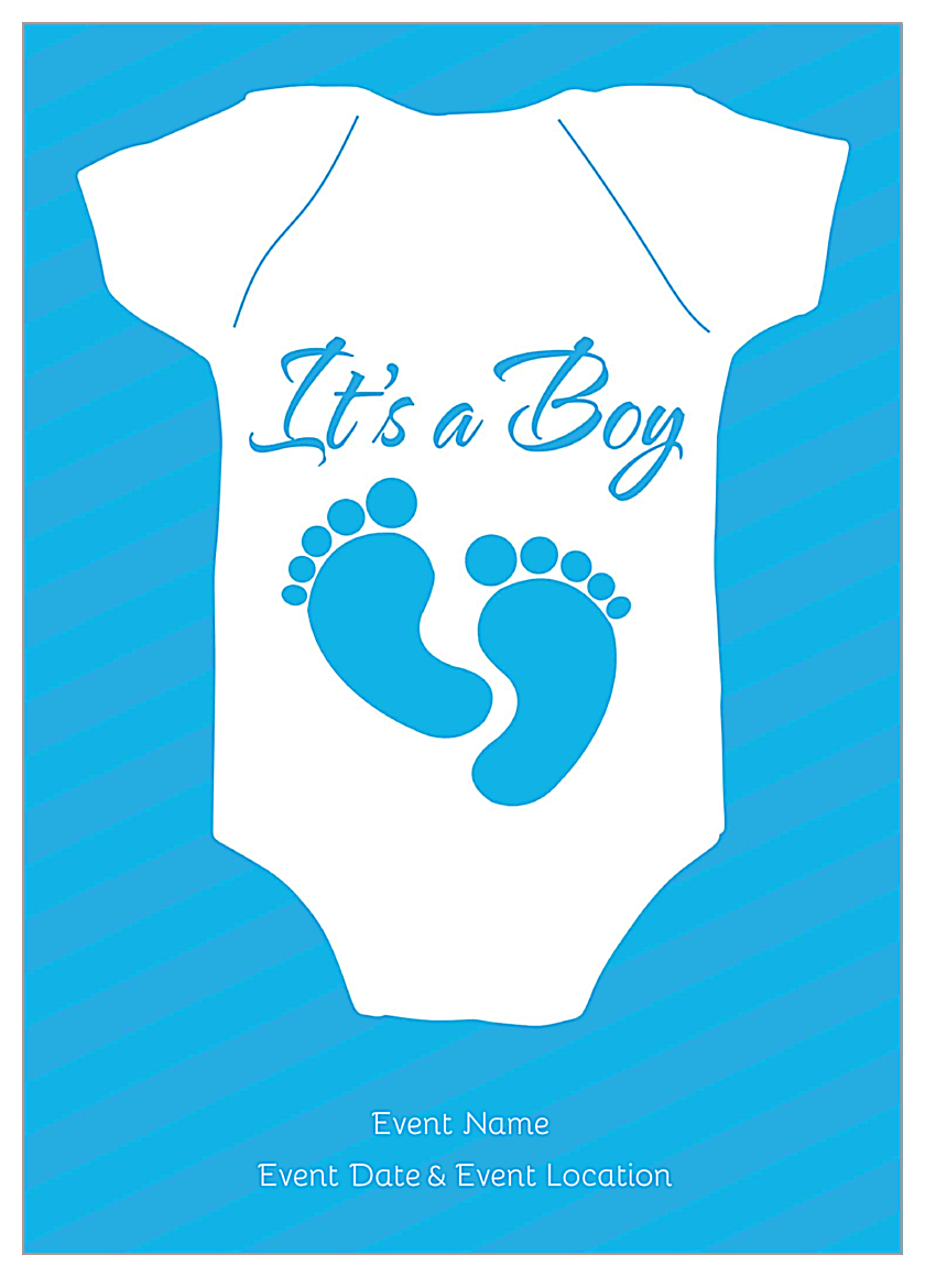 Baby Feet front - Invitation Cards Maker