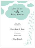 Raindrops Baby Shower - invitation-cards Maker
