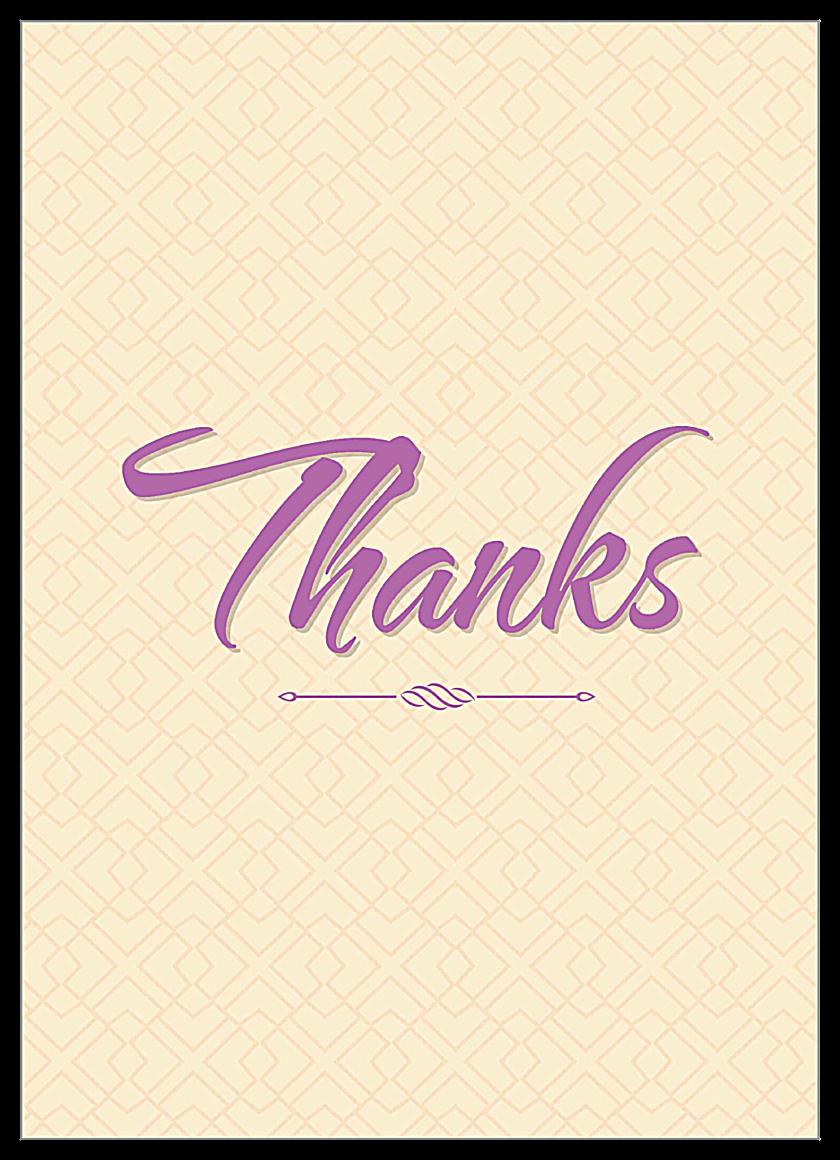 Thanks front - Invitation Cards Maker
