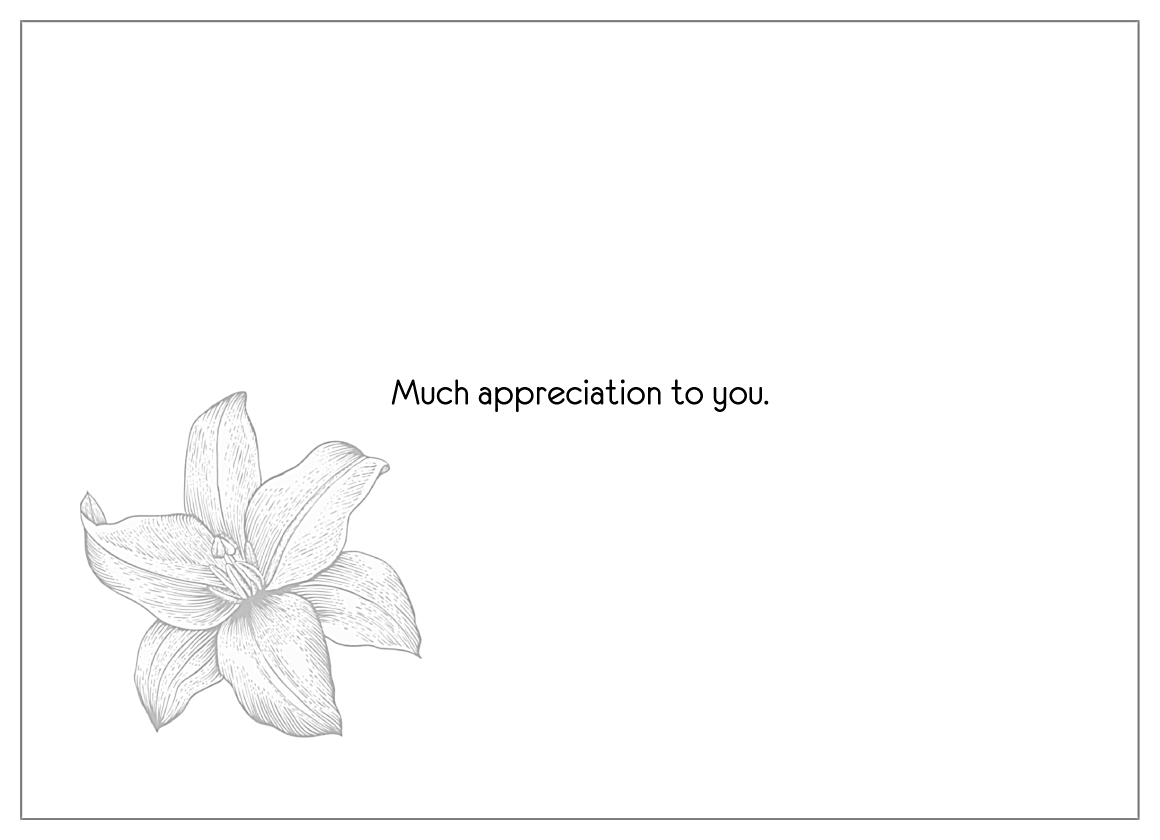 Lily Flower Thanks back - Invitation Cards Maker