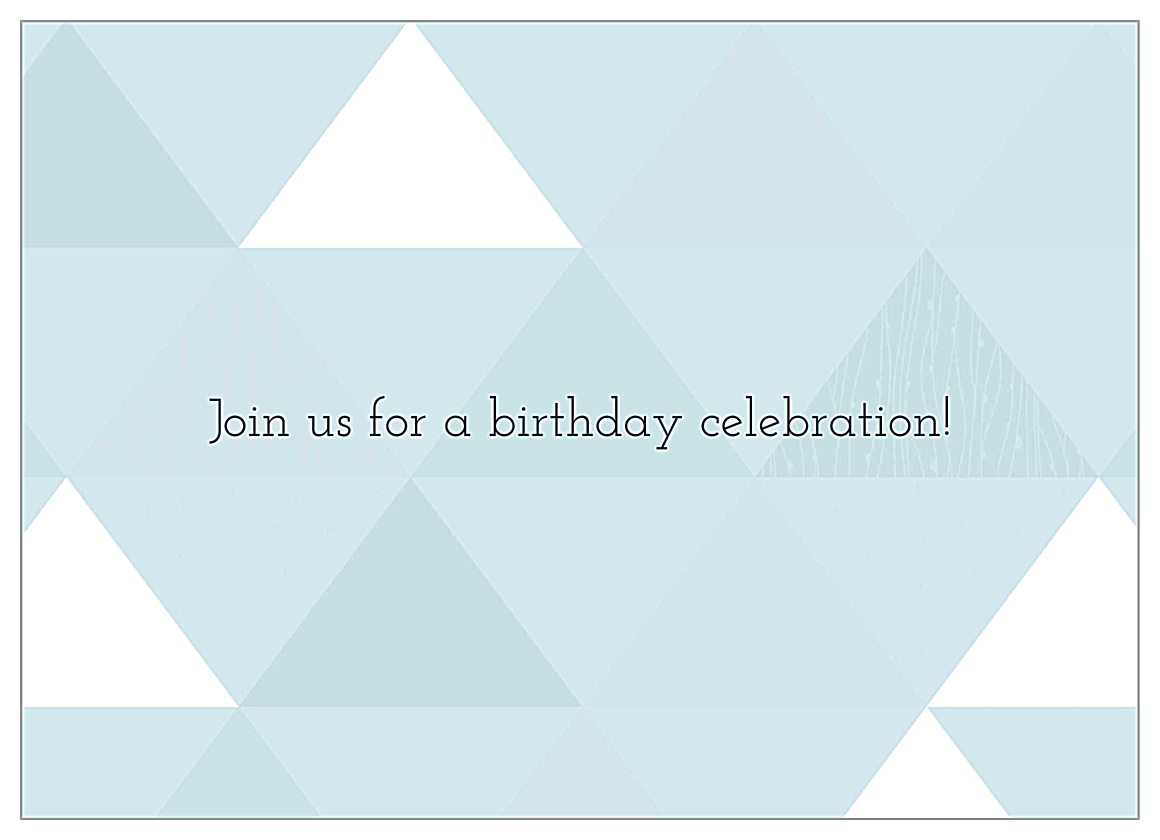 Triangle Party back - Invitation Cards Maker