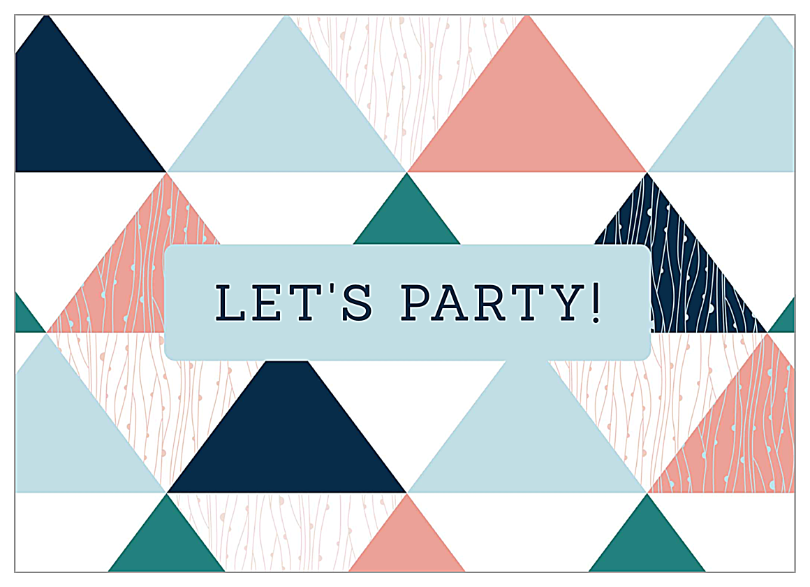 Triangle Party front - Invitation Cards Maker