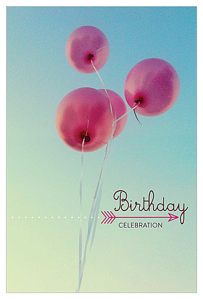 Birthday Balloons front - Invitation Cards Maker