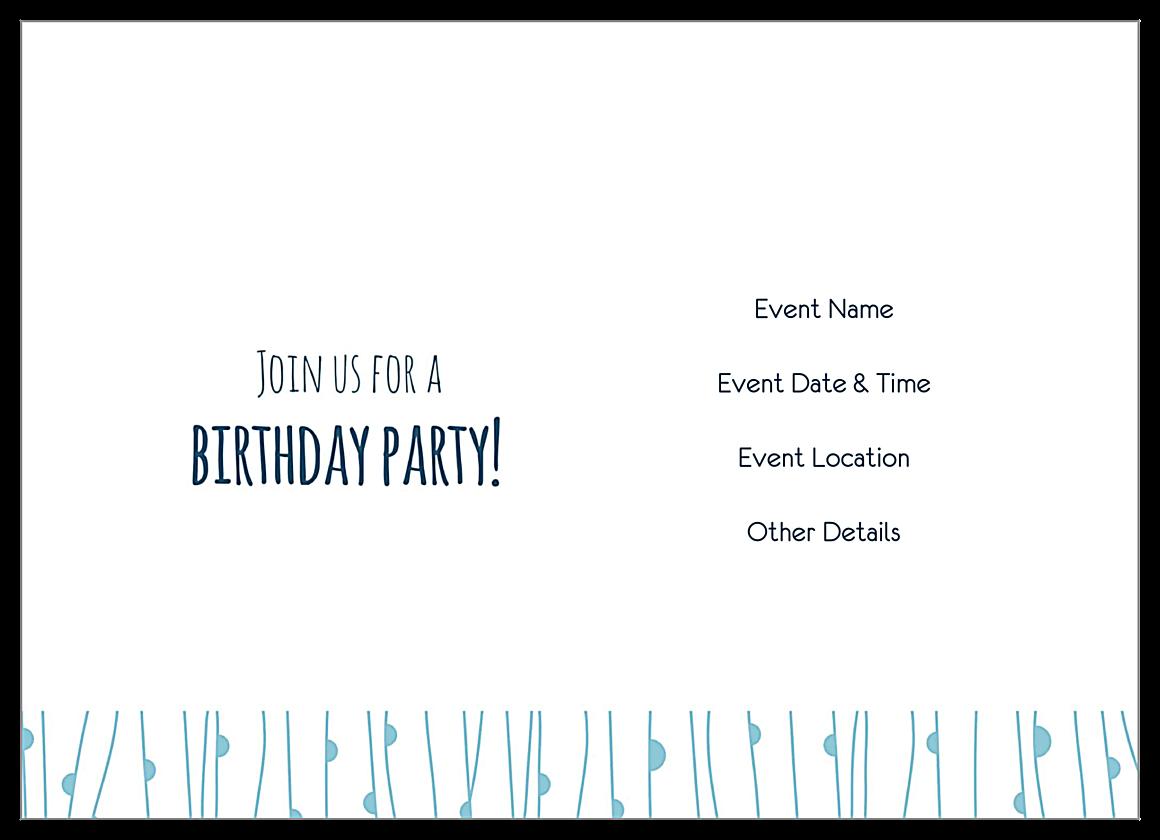 Birthday Owl back - Invitation Cards Maker