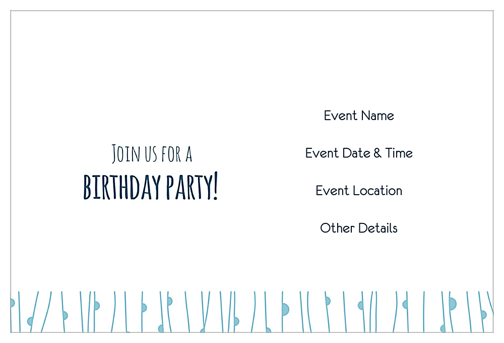 Birthday Owl back - Invitation Cards Maker