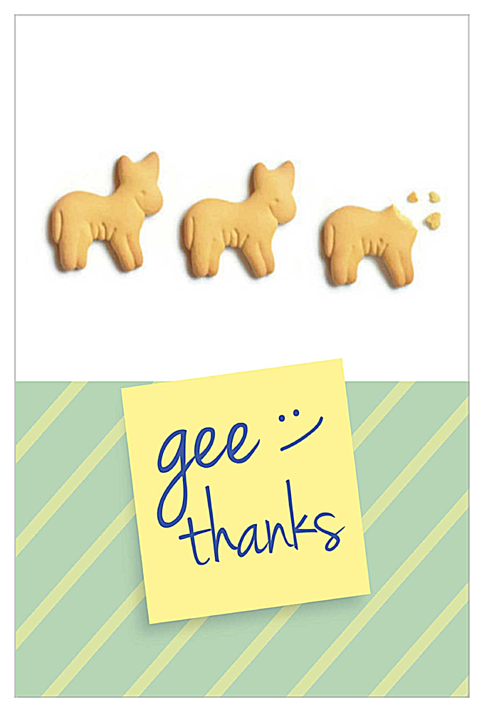 Gee Thank You front - Invitation Cards Maker