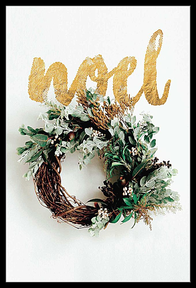 Gilded Noel front - Invitation Cards Maker