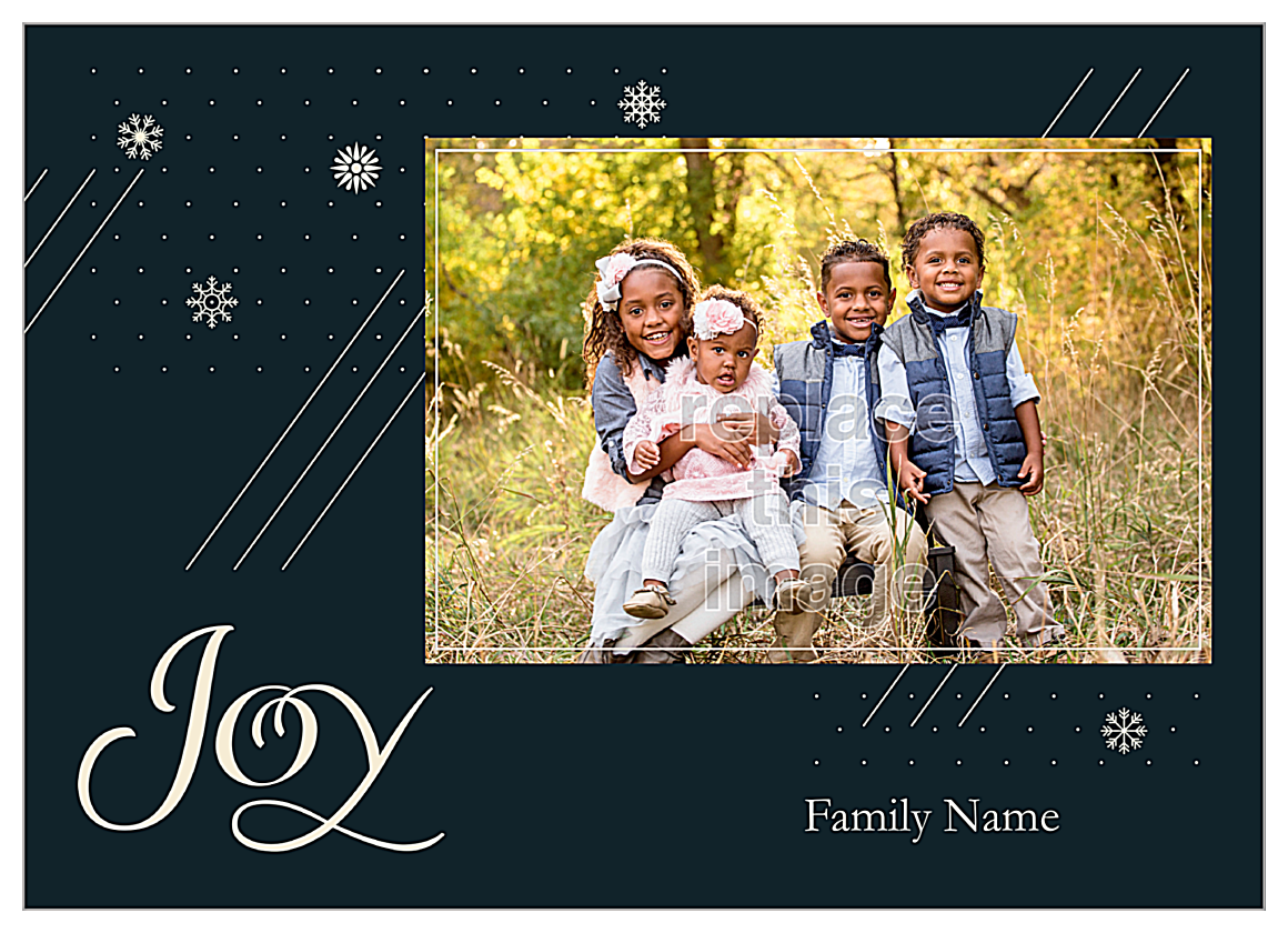 Snowflake Joy front - Invitation Cards Maker