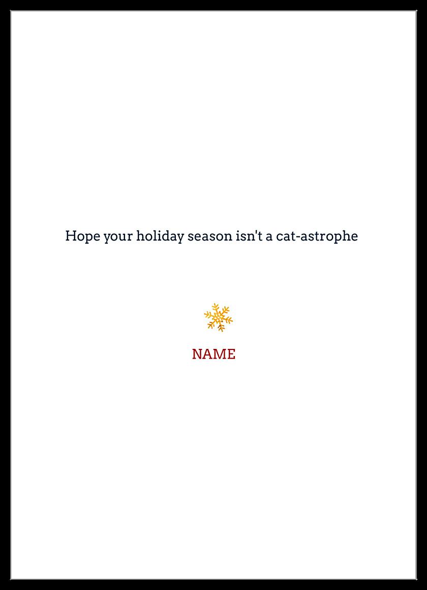Meowy Christmas back - Invitation Cards Maker