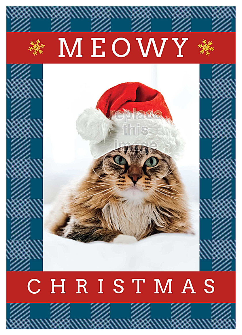 Meowy Christmas front - Invitation Cards Maker
