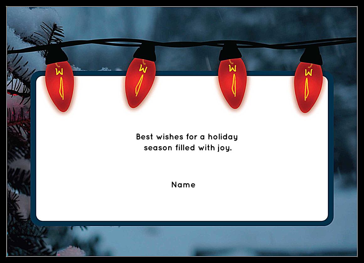 Holiday Glow back - Invitation Cards Maker