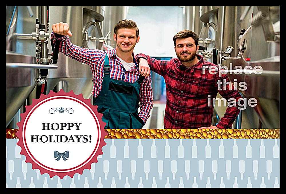 Hoppy Holidays front - Invitation Cards Maker