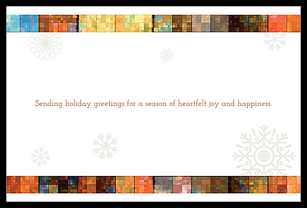 Mosaic Snowflakes back - Invitation Cards Maker