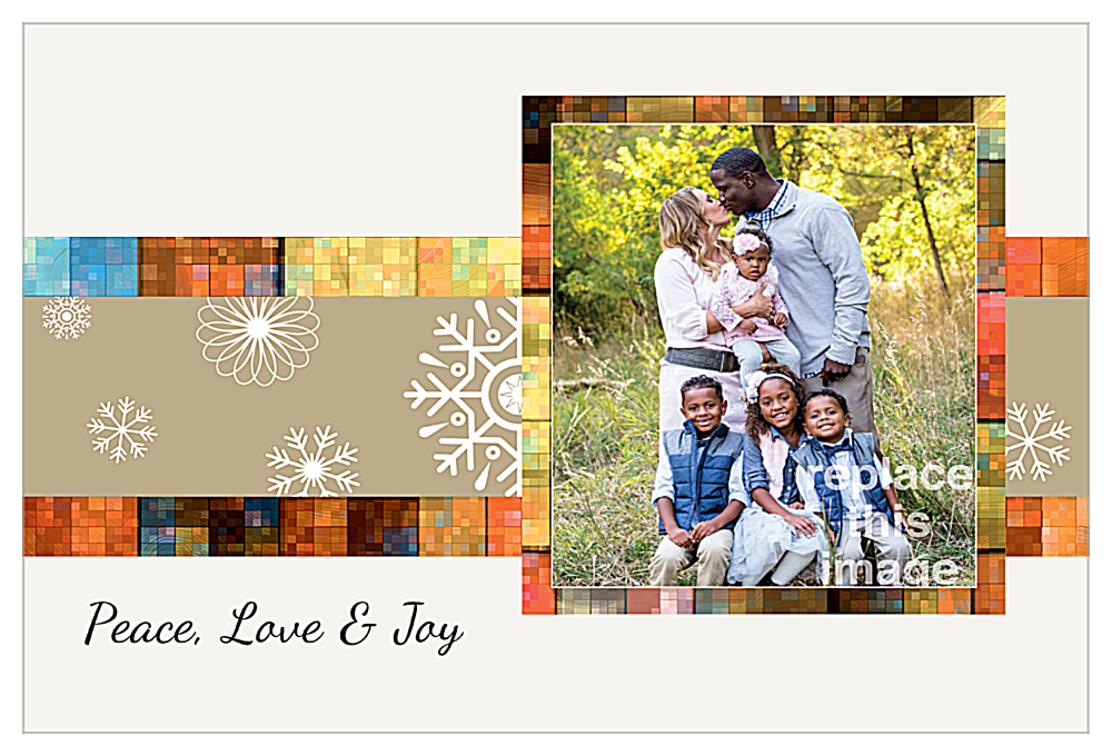Mosaic Snowflakes front - Invitation Cards Maker