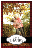 Thanks Plaid - invitation-cards Maker