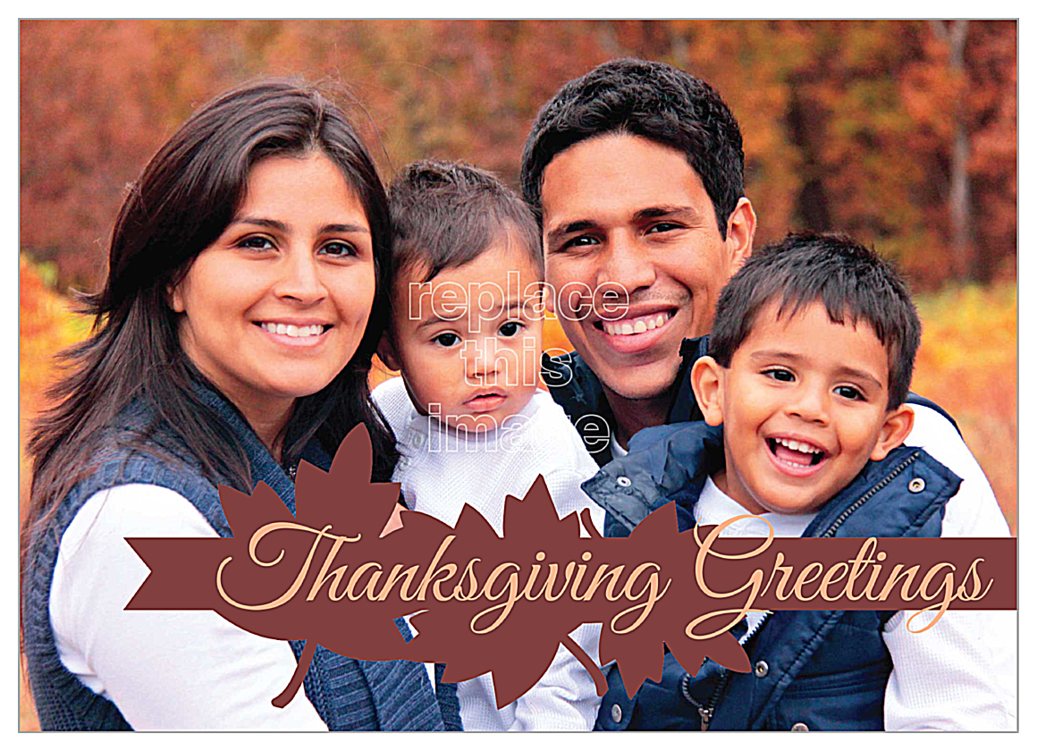 Seasonal Thanksgiving front - Invitation Cards Maker