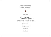 Seasonal Thanksgiving - invitation-cards Maker