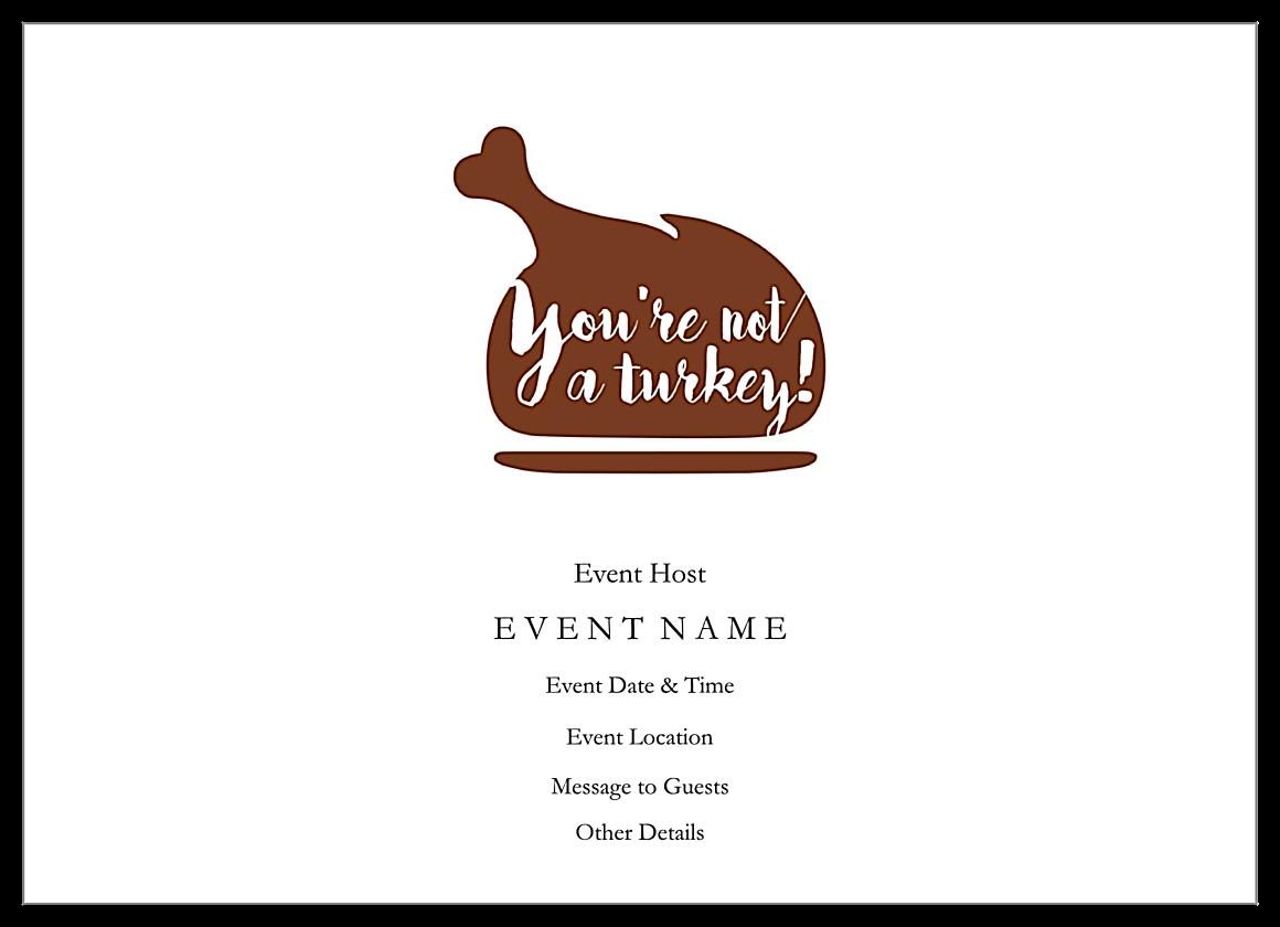 Funny Turkey Day back - Invitation Cards Maker