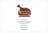 Funny Turkey Day - invitation-cards Maker