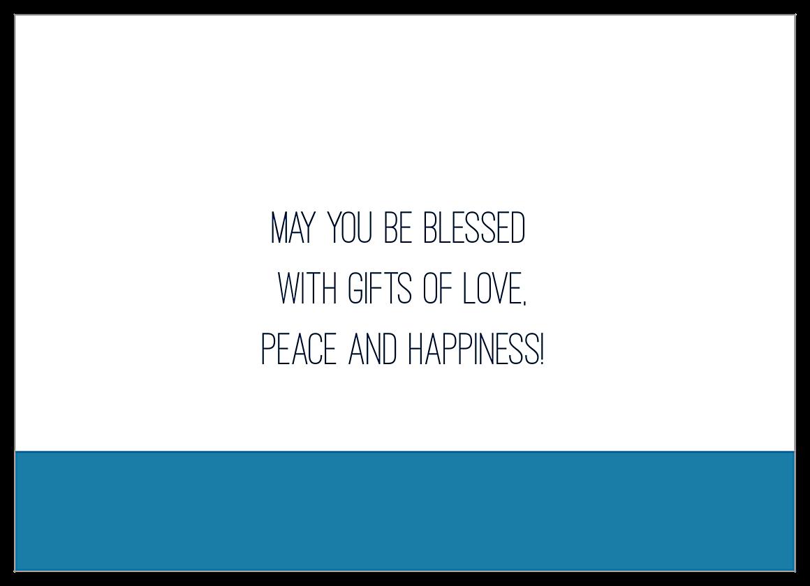 Blessings for Hanukkah back - Invitation Cards Maker
