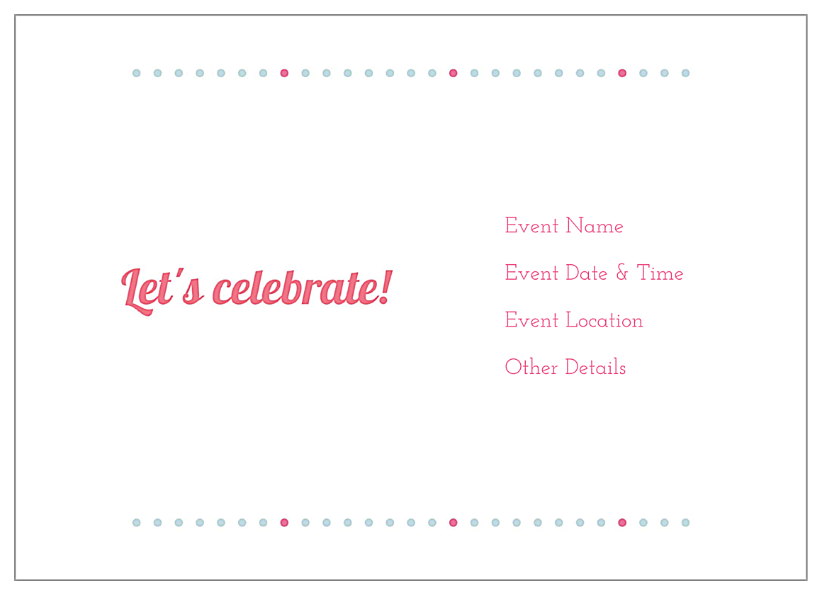 Birthday Girl back - Invitation Cards Maker