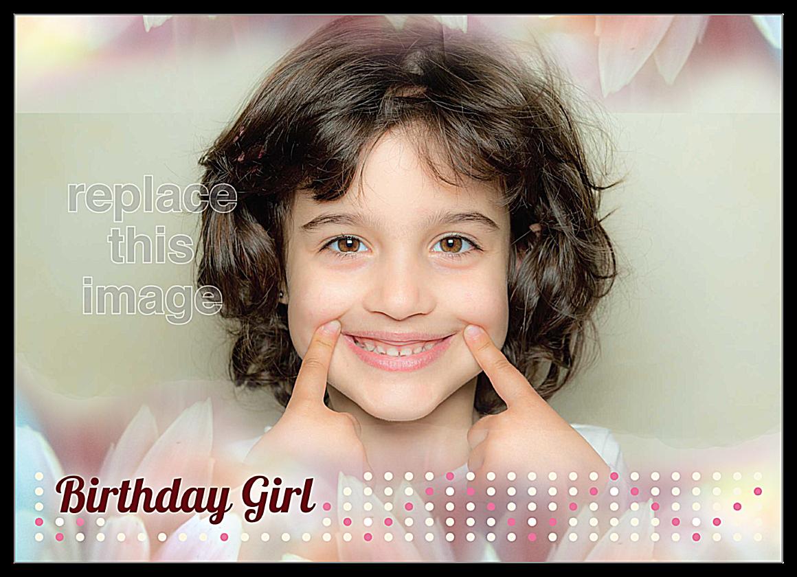 Birthday Girl front - Invitation Cards Maker