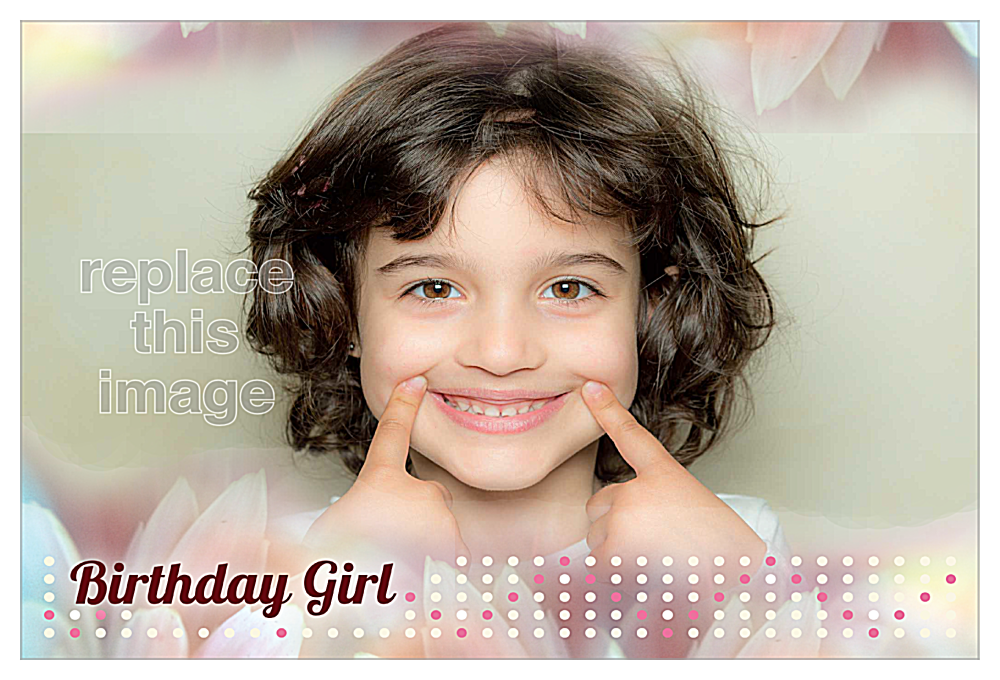 Birthday Girl front - Invitation Cards Maker