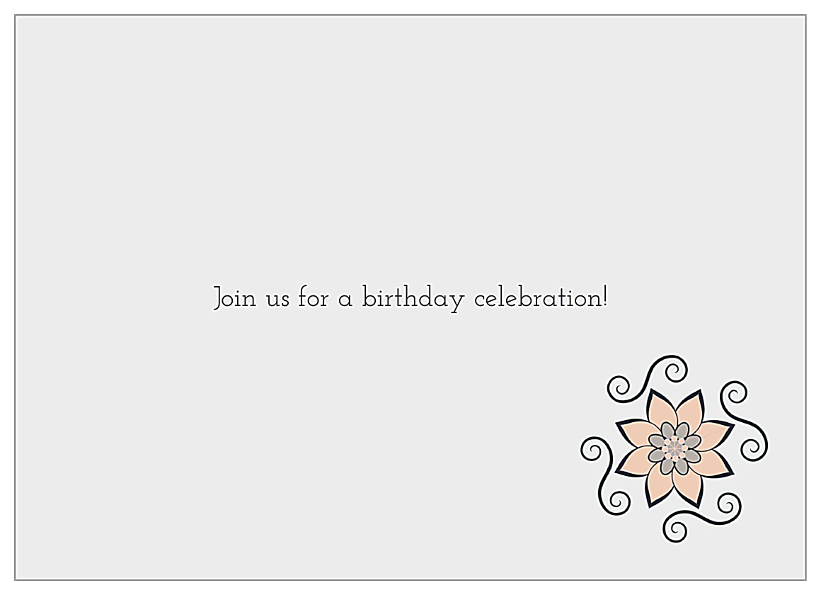 Flower Swirls back - Invitation Cards Maker
