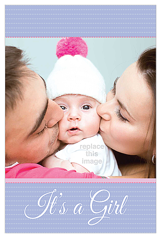 Baby Kisses front - Invitation Cards Maker