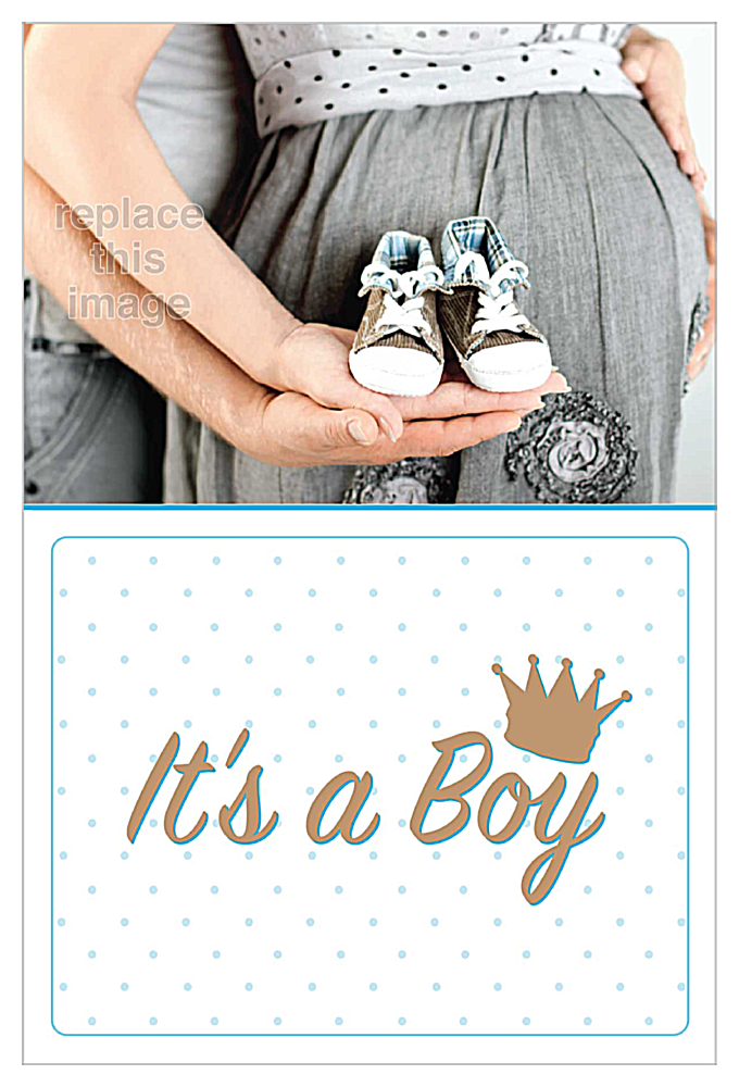 Baby Shoes front - Invitation Cards Maker