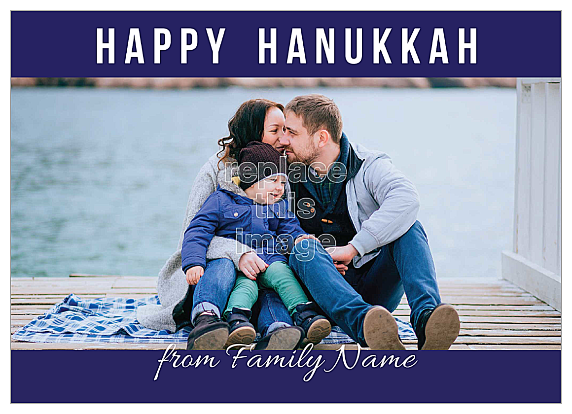 Hanukkah Wishes front - Invitation Cards Maker