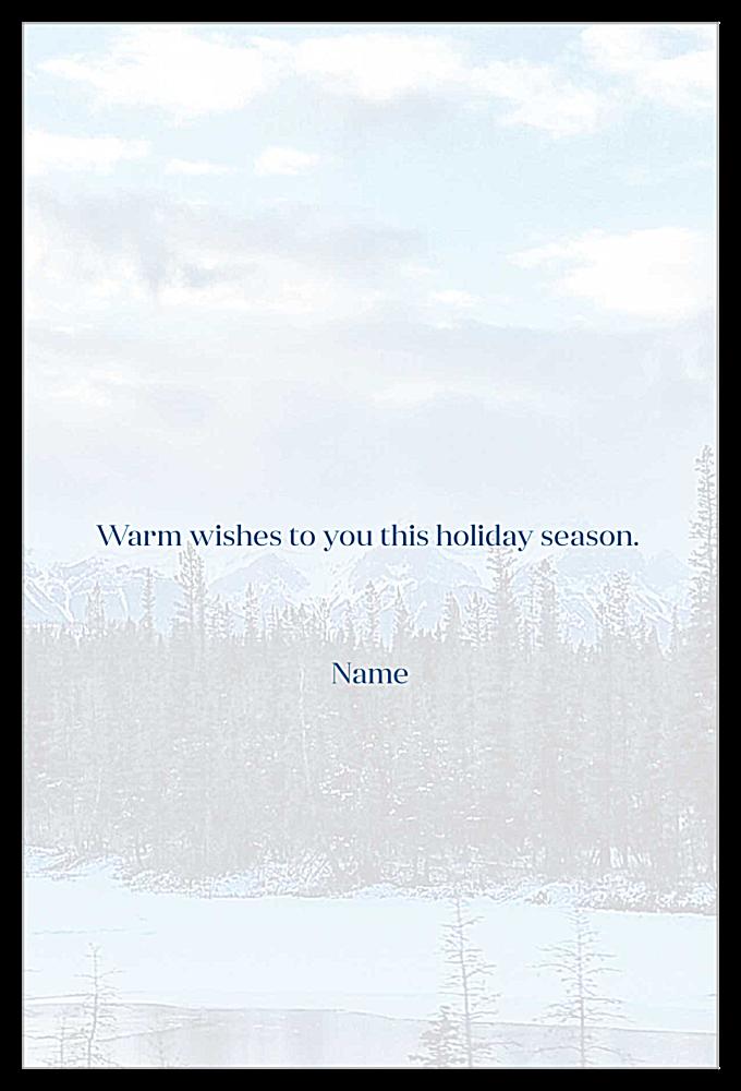 Holiday Landscape back - Invitation Cards Maker