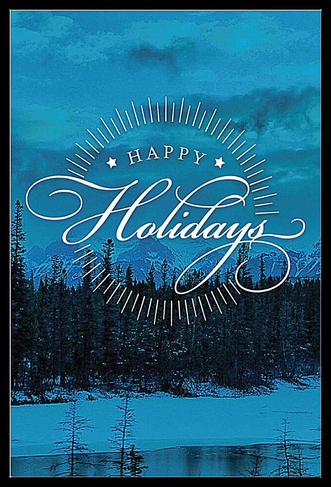 Holiday Landscape front - Invitation Cards Maker