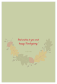 Leaves of fall - invitation-cards Maker