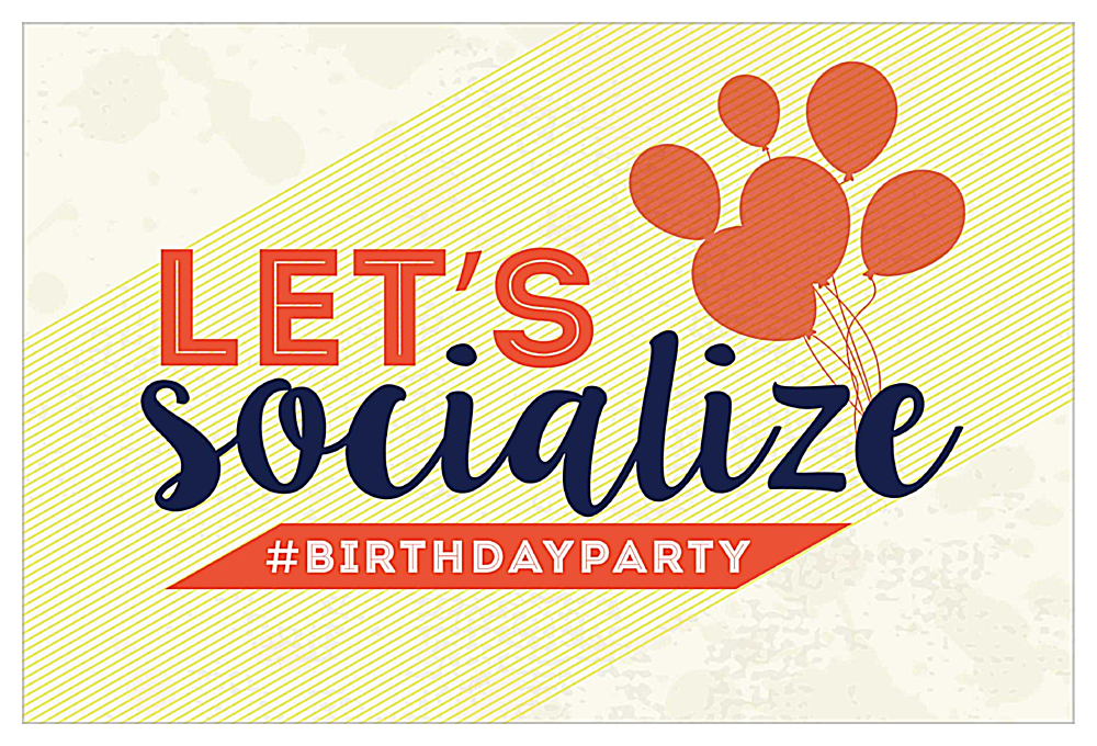 Social Birthday front - Invitation Cards Maker