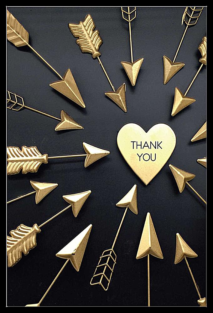 Arrow Thanks front - Invitation Cards Maker