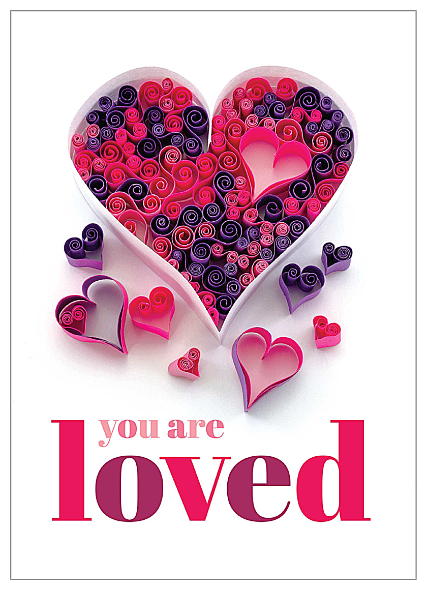 You Are Loved front - Invitation Cards Maker