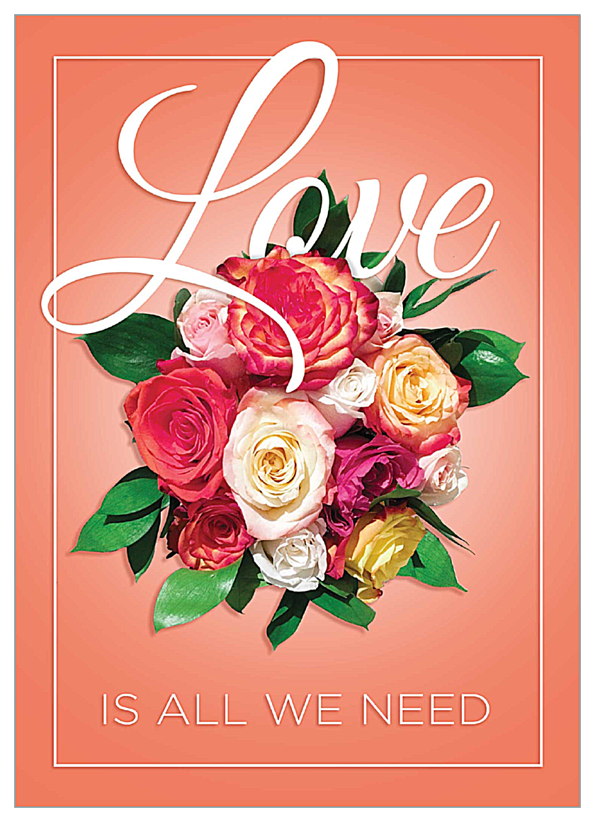 Love Is All We Need front - Invitation Cards Maker